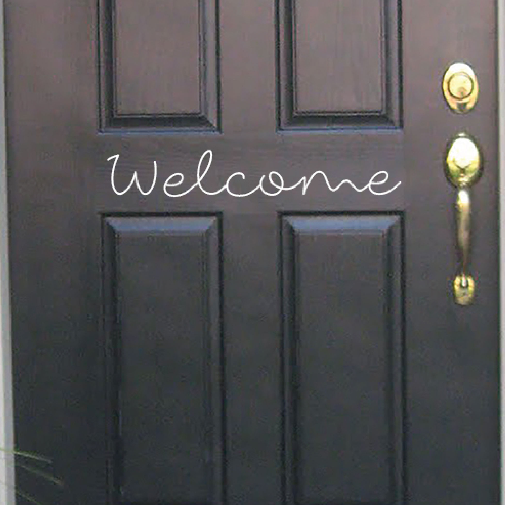 Welcome Decal for Front Door